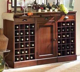 Pottery Barn Modular Bar Buffet with 2 Wine Grid Bases & 1 Cabinet Base