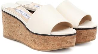 Jimmy Choo Exclusive to Mytheresa Deedee 80 leather platform sandals