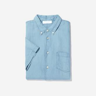 Everlane The Linen Short-Sleeve Slim Fit Shirt