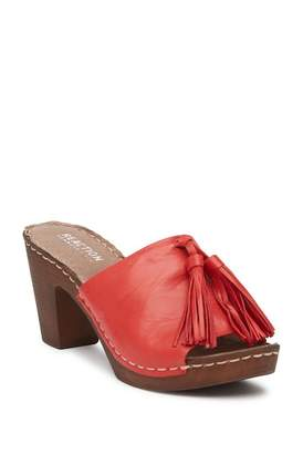 Kenneth Cole Reaction Only One Open Toe Leather Mule