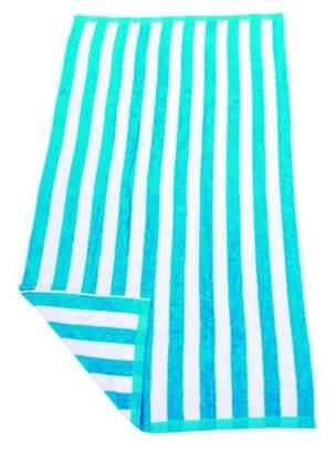 Aqua & White Hawaiian Stripe Beach Towel