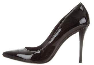 Pierre Balmain Patent Leather Pointed-Toe Pumps