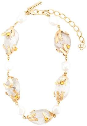Oscar de la Renta glass stones necklace