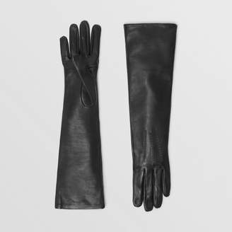 Burberry Long Silk-lined Lambskin Gloves