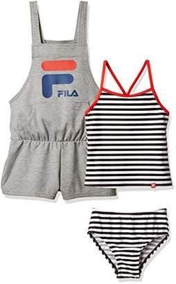 Fila (フィラ) - (フィラ)FILA(フィラ) FILAタンキニ/サロペット付127661 127661 BK ブラック 120