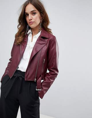 Asos Design DESIGN leather look biker