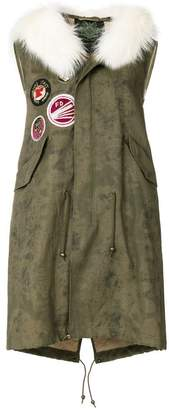 Mr & Mrs Italy sleeveless patch parka