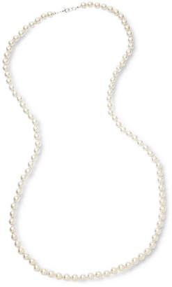 VIESTE ROSA Vieste Silver-Tone Pearlized Glass Bead Knotted Necklace