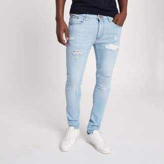 River Island Light blue Danny super skinny ripped jeans
