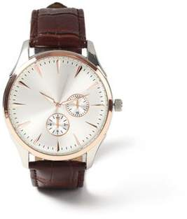 Topman Mens Brown Leather Watch*