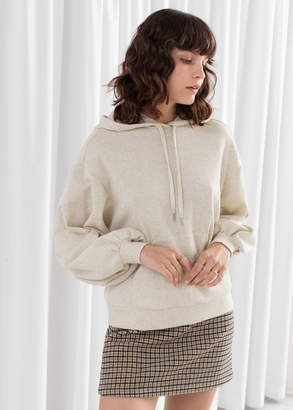 And other stories Puff Sleeve Hooded Sweatshirt