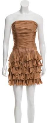 Haute Hippie Strapless Mini Dress
