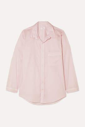 Pour Les Femmes - Crochet-trimmed Cotton-voile Nightdress - Pastel pink