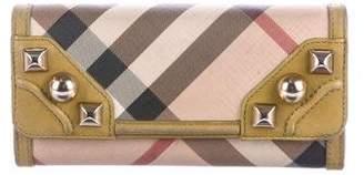 Burberry Studded Nova Check Wallet