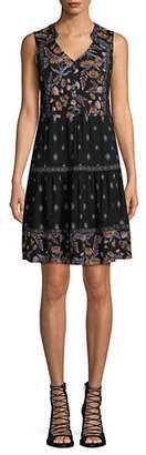Style&Co. STYLE & CO. Floral Sleeveless A-Line Dress