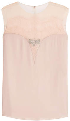 Paule Ka Sleeveless Top with Silk and Lace