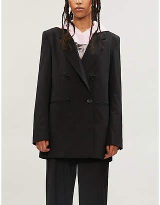 BAPY Ruffle-trimmed stretch-crepe blazer