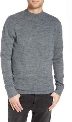 Treasure & Bond Regular Fit Brushed Mock Neck Sweater