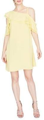 Rachel Roy Asymmetrical Ruffle Trapeze Dress