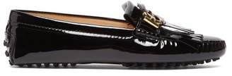 Tod's Gommino Patent Leather Loafers - Womens - Black