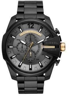 Diesel Mega Chief Stainless Steel Black IP Bracelet Watch