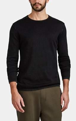 John Varvatos Men's Washed Cotton Sweater - Black