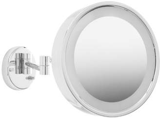 Jerdon HL7CF 9.75-Inch Lighted Wall Mount Makeup Mirror with 3x Magnification