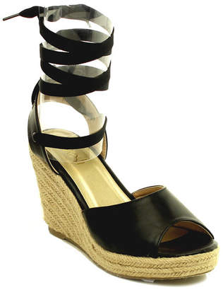 Refresh Sandra Lace-Up Espadrille Wedge $45 thestylecure.com