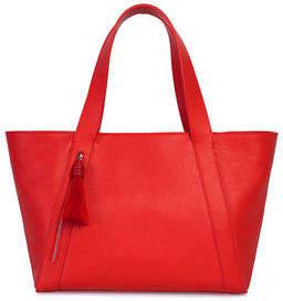 Akris Alexa Small Zip-Top Tote Bag with Horsehair Tassel