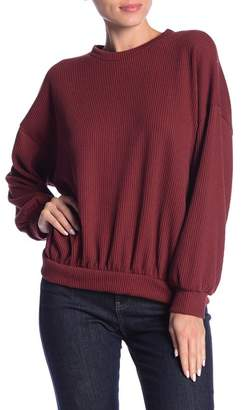 Lush Textured Rib Knit Long Sleeve Pullover