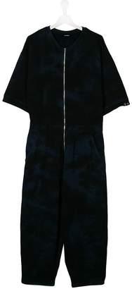 Diesel zipped short-sleeve jumpsuit