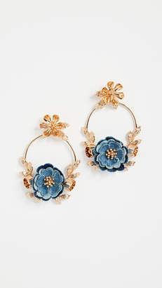 Kate Spade Flower Child Door Knocker Earrings