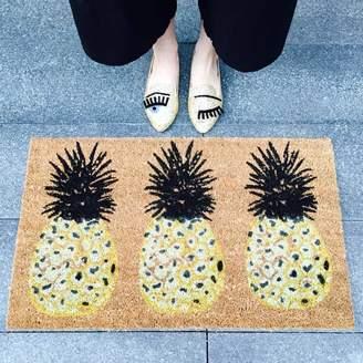 bombay duck Pineapple Door Mat - Yellow/Black/Brown