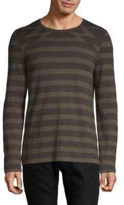 HUGO BOSS Sluis Mixed Stripe Long-Sleeve T-Shirt