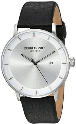 Kenneth Cole New York Men's 'Classic' Quartz Stainless Steel and Leather Casual Watch