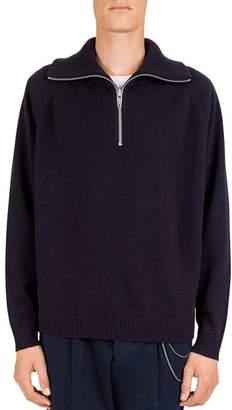 The Kooples Wool & Cashmere Quarter-Zip Sweater