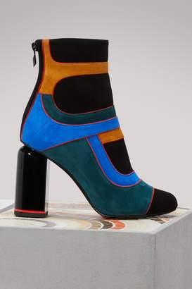 Pierre Hardy Suede heel boots