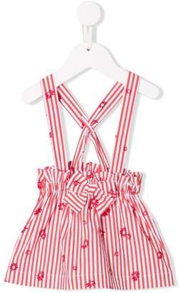 Il Gufo striped pinafore skirt