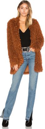House of Harlow x REVOLVE Janice Shag Coat $270 thestylecure.com