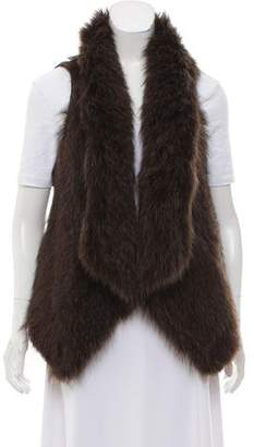 Theory Knitted Fur Vest