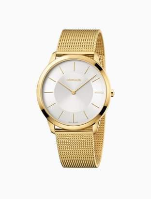 Calvin Klein minimal gold mesh watch