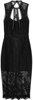 Alexis Oralie Open-Back Guipure Lace Dress