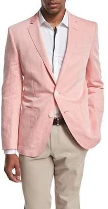 BOSS Woven Two-Button Sport Coat, Pale Orange $645 thestylecure.com