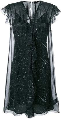 Karl Lagerfeld starry ruffle dress