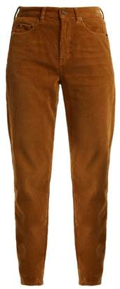 Saint Laurent - Straight Leg Corduroy Jeans - Womens - Light Brown