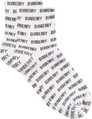 Burberry All-Over Lettering Socks