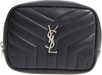 Saint Laurent Loulou Matelasse Leather Cosmetics Bag