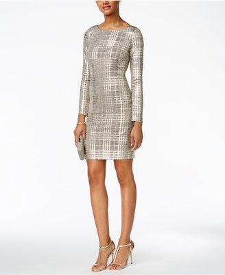 Jessica Howard Metallic Plaid Sheath Dress $89 thestylecure.com