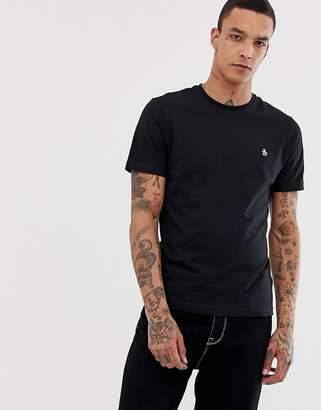 Original Penguin small logo t-shirt slim fit in black
