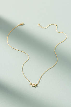 Anthropologie Olive Branch Pendant Necklace